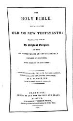 The Holy Bible Arranged In Paragraphs And Parallelisms With Annotations By T W Coit Book PDF