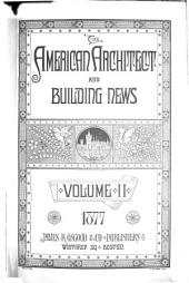 American Architect and Architecture: Volume 2