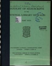 Cylchgrawn Llyfrgell Genedlaethol Cymru PDF