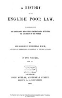 A History of the English Poor Law PDF
