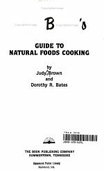 Judy Brown's Guide to Natural Foods Cooking