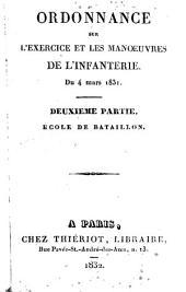 Ordonnance sur l'exercice et les manoeuvres de l'infanterie du 4 mars 1831: Volume4