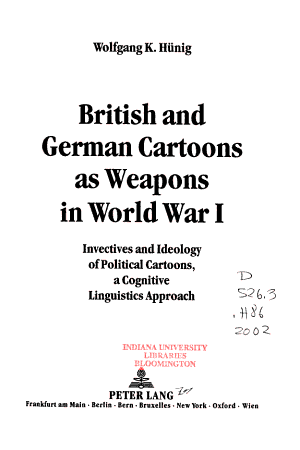 British and German Cartoons as Weapons in World War I