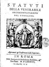 Statuti della venerabile Archiconfraternita del Confalone