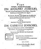 Diss. ... de quaestione: an animalia in igne generentur, vel vivant, et in specie de pyrausta et salamandra