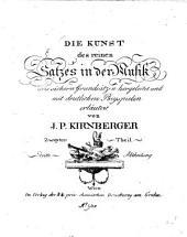 Die Kunst des reinen Satzes in der Musik: aus sicheren Grundsätzen hergeleitet und mit deutlichen Beyspielen erläutert, Band 2,Ausgabe 3