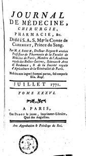 Journal de médecine, de chirurgie et de pharmacie: Volume36