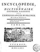 Encyclopédie, ou Dictionaire universel raisonné des connoissances humaines: Planches