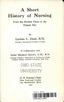 A Short History of Nursing  PDF