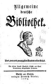 Allgemeine deutsche Bibliothek: Band 22