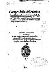 Compendiu[m] Biblie totius, hoc est, epitoma sacrae sciptur[a]e utriusq[ue] s. testamenti iusxta l[ite]rale[m] sensum