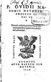 Metamorphoseon libri XV.