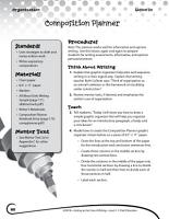 Writing Lesson Level 4  Composition Planner PDF