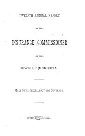 Annual Report of the Insurance Commissioner of the State of Minnesota: Volume 12, Part 1883