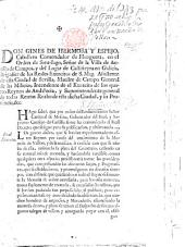 Don Gines de Hermosa y Espejo, etc. [Communication of a royal decree declaring the copper money of Castile current in the kingdom of Aragon. 20 Oct. 1743.]