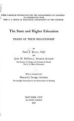 The State and Higher Education
