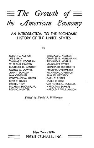The growth of the American economy PDF