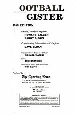 Sporting News Football Register 1988
