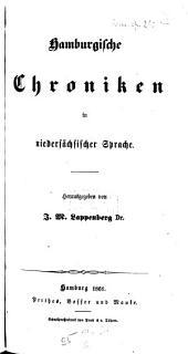 Hamburgische Chroniken in niedersächsischer Sprache