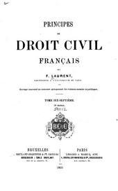 Principes de droit civil français: Volume17