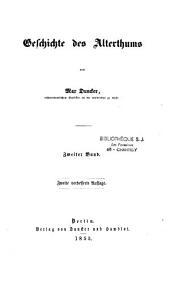 Geschichte des alterthums: Band 2