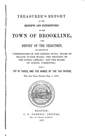 Annual Report of the Town Officers     and the Town Records