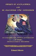 Origen of Alexandria and St. Maximus the Confessor