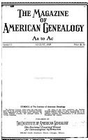 The Magazine of American Genealogy PDF