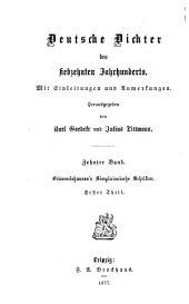 Deutsche Dichter des siebzehnten Jahrhunderts: Mit Einleitungen und Anmerkungen, Band 10