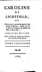Caroline de Lichtfield ou mémoires extraits des papiers d'une famille prussienne: Volume3
