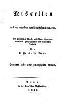 Miscellen aus der neuesten ausl  ndischen Literatur PDF