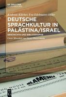 Deutsche Sprachkultur in Pal  stina Israel PDF