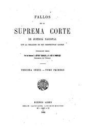 Fallos de la Corte suprema de justicia de la nación: con la relación de sus respectivas causas, Volumen 31