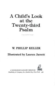 A Child's Look at the Twenty-Third Psalm