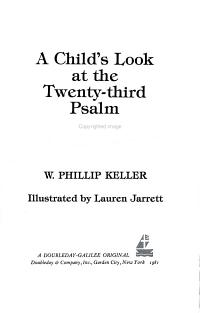A Child s Look at the Twenty Third Psalm