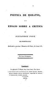 Poetica de Horatio: e O ensaio sobre a critica de Alexandre Pope