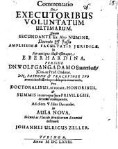 Commentatio de executoribus voluntatum ultimarum