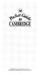 AA Pocket Guide to Cambridge