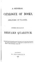 A General Catalogue of Books  Offered to the Public at Affixed Prices PDF