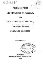 Principios de retorica y poètica