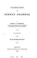 Exercises on the German Grammar PDF