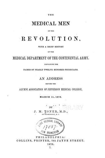 The Medical men of the Revolution PDF