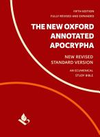The New Oxford Annotated Apocrypha PDF