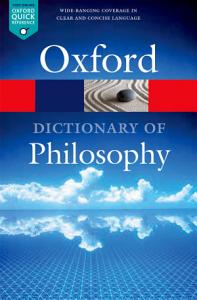 The Oxford Dictionary of Philosophy Book