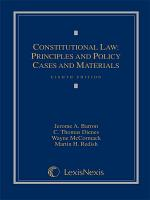 Constitutional Law  Principles and Policy  Cases and Materials PDF