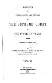 The Texas Reports: Cases Adjudged in the Supreme Court, Volume 2
