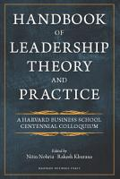 Handbook of Leadership Theory and Practice PDF