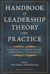 Handbook Of Leadership Theory And Practice Book PDF