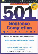 501 Sentence Completion Questions PDF