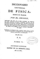 Diccionario universal de Física: Volumen 5